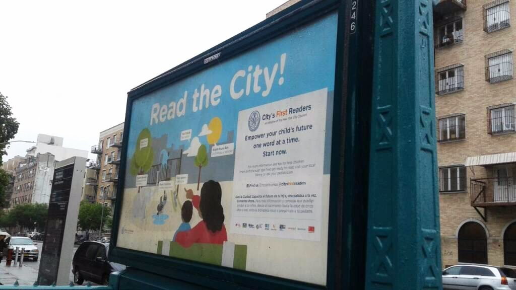 Read the City campaign creative on the subway