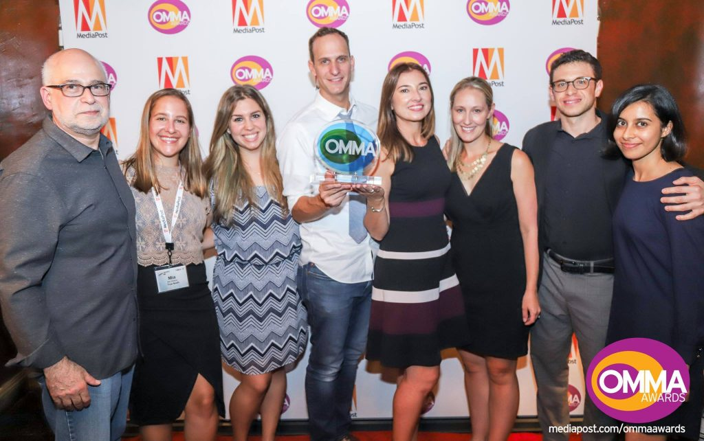 True North team with the Omma Award