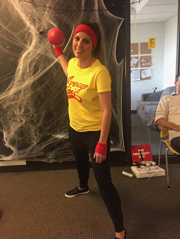 Maryah dressed for dodgeball