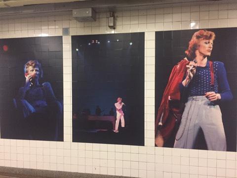 David Bowie subway ads