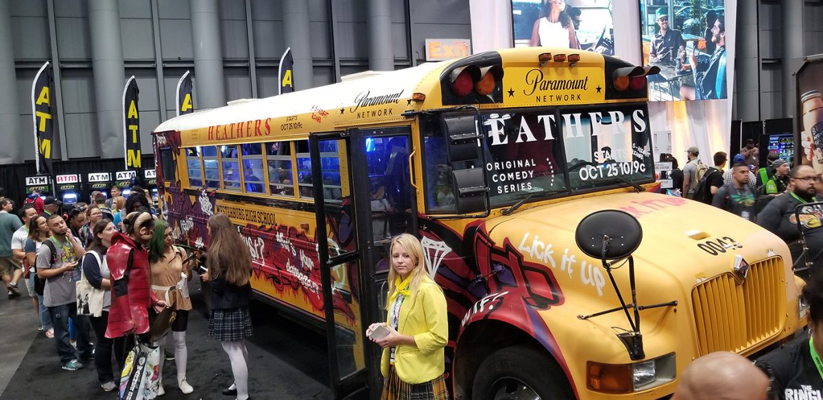 Heathers bus at Comic Con