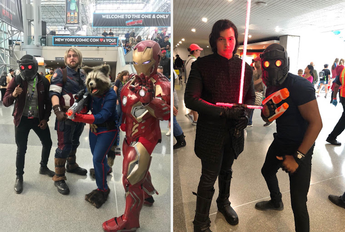 Rony dressed as Peter Quill at comic con