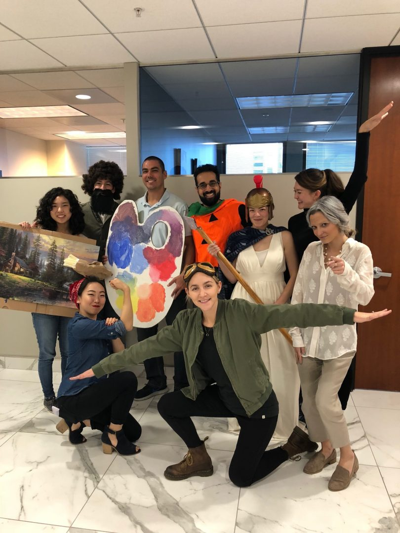 The True North San Francisco office in costumes