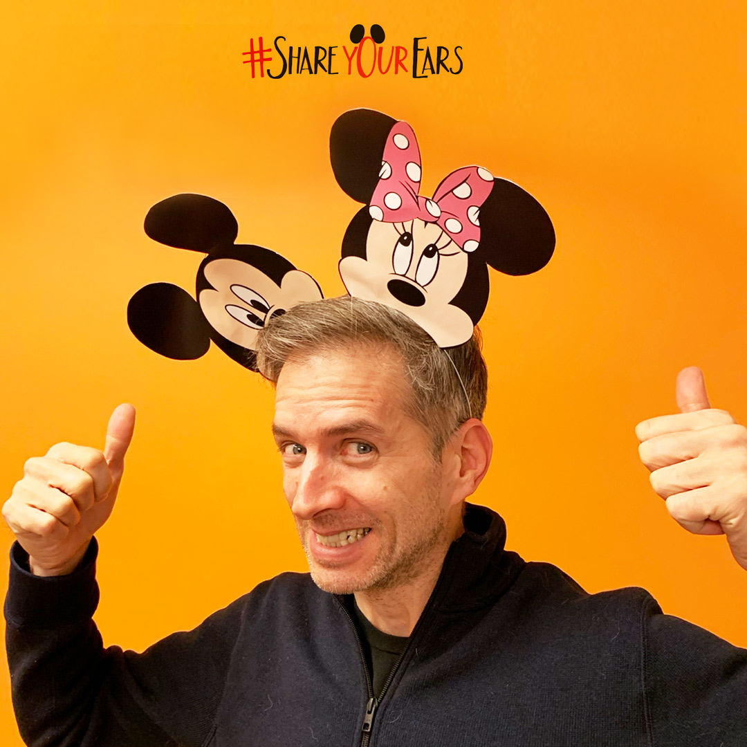 True North employee with Mickey ears