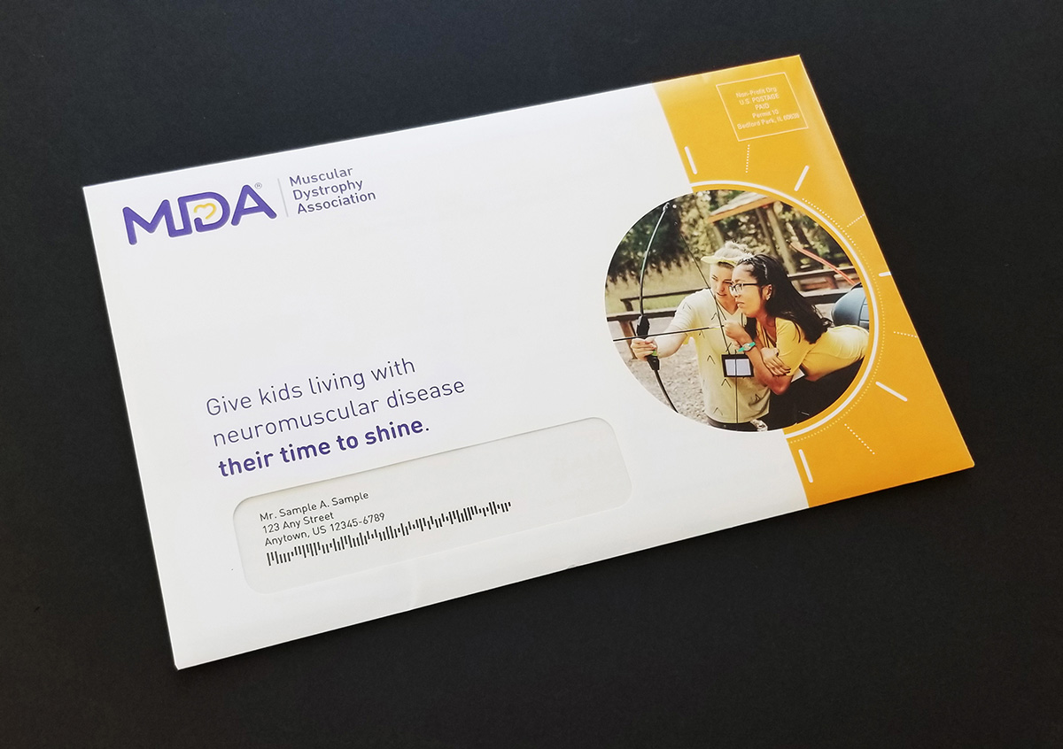 Outside of direct mail envelope
