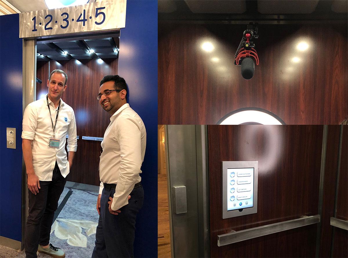 Directors Dan Brown and Rehan Iqbal at the Elevator Pitch