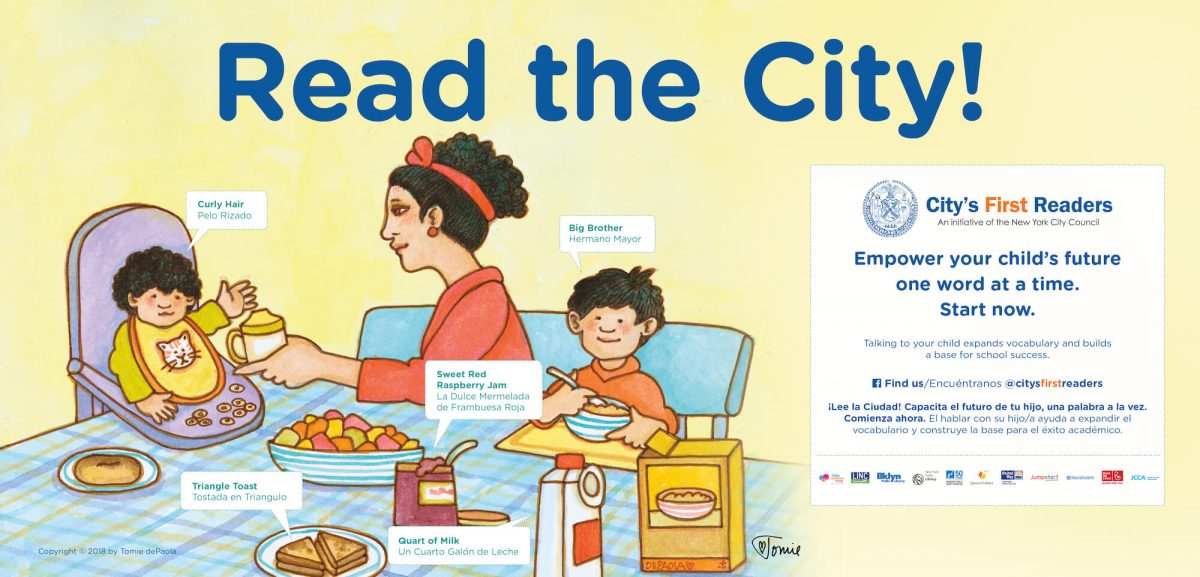 Read the City ad using Tomie dePaola art