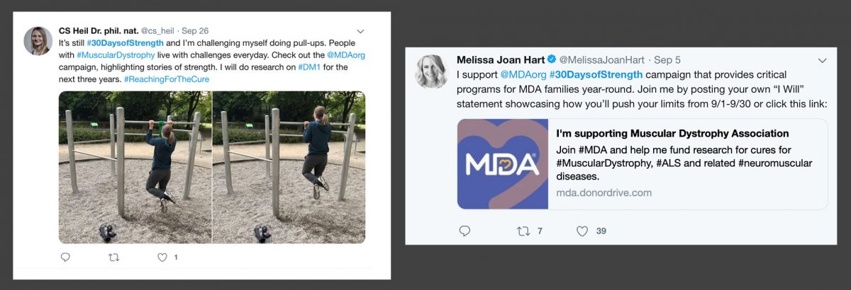 Two social media posts for the 'I Will' campaign