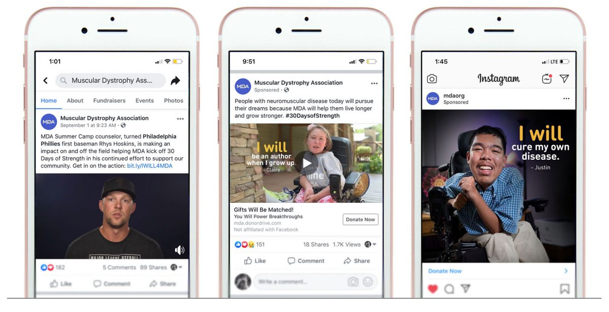 Examples of social posts using the 'I will' campaign