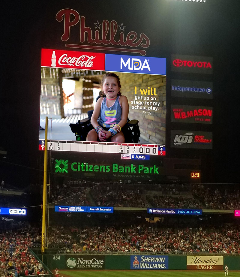 The MDA Video on the Jumbotron